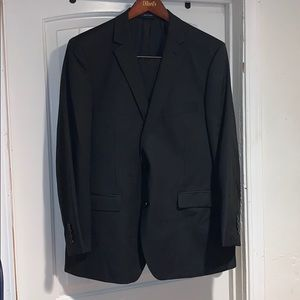 RL Ralph Lauren pin stipe gray suit size 46R EUC